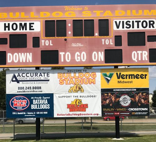 Stadium Scoreboard Sign Front